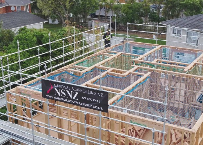 Residential Scaffolding With Safety Netting